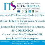 Sospensione attività per i giorni 26 e 27 febbraio